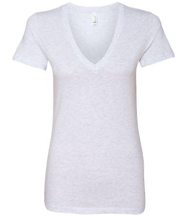 BELLA 6035 Womens Deep V-Neck T-shirt ASH