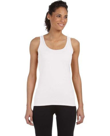 64200L Gildan Junior Fit Softstyle Tank Top WHITE