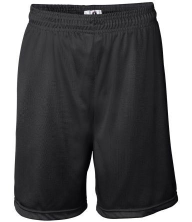 7237 Badger Adult Mini-Mesh 7-Inch Shorts Black