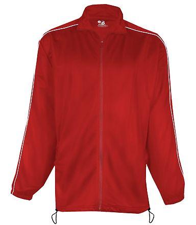 7701 Badger Adult Brushed Tricot Razor Jacket Red/ White