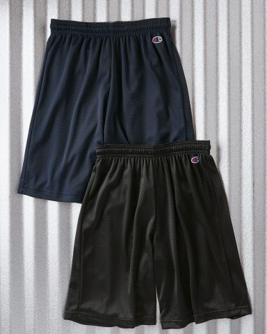 8731 Champion Logo Adult Mesh Shorts Catalog