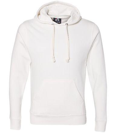J8871 J-America Adult Tri-Blend Hooded Fleece Antique White Triblend