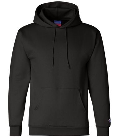 S700 Champion Logo 50/50 Pullover Hoodie Black