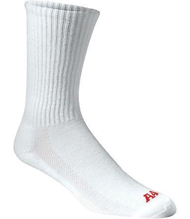 S8004 A4 Performance Crew Socks White