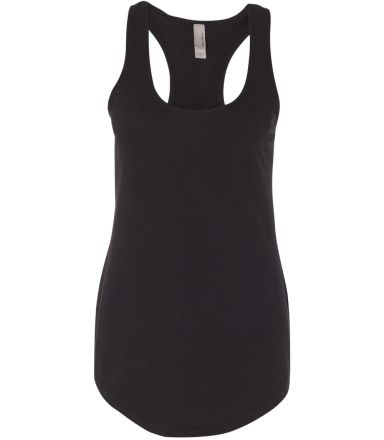Next Level 6933 The Terry Racerback Tank BLACK