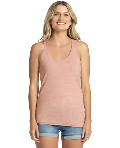 Next Level 6733 Tri-Blend Racerback Tank DESERT PINK