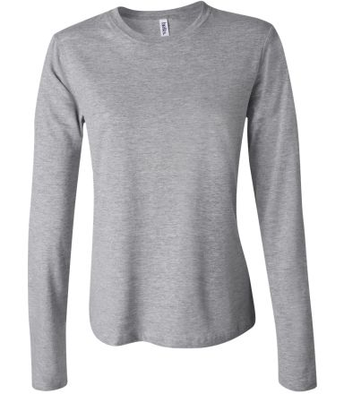 BELLA 6500 Womens Long Sleeve T-shirt ATHLETIC HEATHER