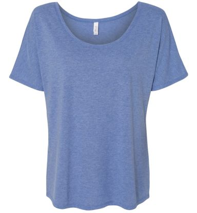 BELLA 8816 Womens Loose T-Shirt BLUE TRIBLEND