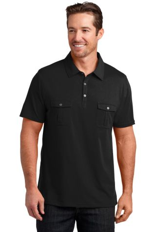 DM333 District Made™ Mens Jersey Double Pocket P Black
