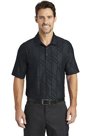 632412 Nike Golf Dri-FIT Embossed Polo Black