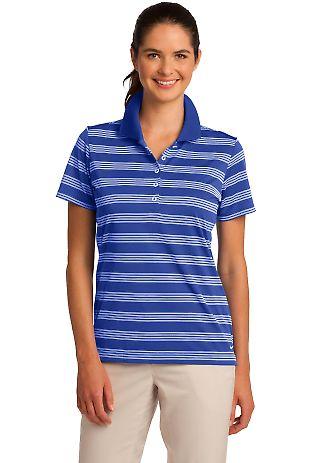 578678 Golf Ladies Dri-FIT Tech Stripe Polo Game Royal