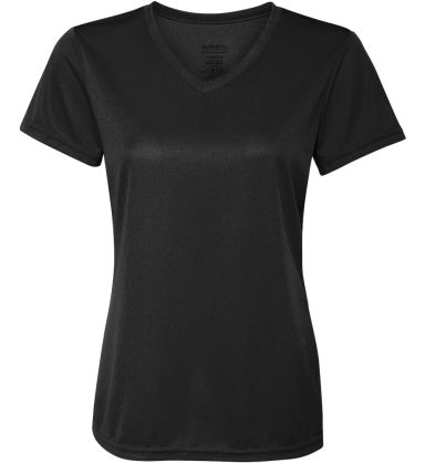1790 Augusta Sportswear - Ladies' V-Neck Wicking T BLACK