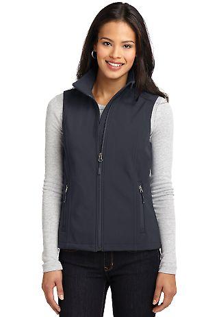 L325 Port Authority® Ladies Core Soft Shell Vest Batlshp Grey