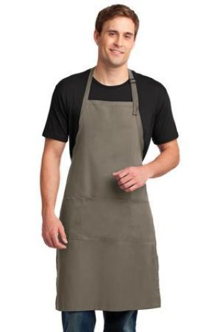 A700 Port Authority® Easy Care Extra Long Bib Apron with Stain Release Catalog