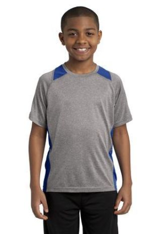 YST361 Sport-Tek® Youth Heather Colorblock Contender™ Tee Catalog