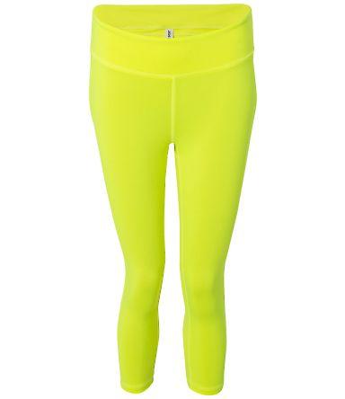 W5009 All Sport Ladies' Capri Legging Sport Safety Yellow