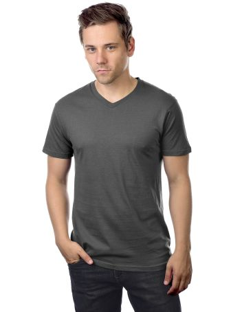 MC1047 Cotton Heritage Men's Chicago Cotton V-Neck Asphalt (Discontinued)