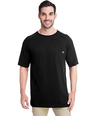 Dickies Workwear SS600 Men's 5.5 oz. Temp-IQ Performance T-Shirt BLACK
