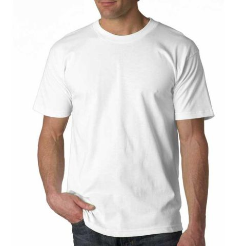 2905 Bayside Adult Union Made Cotton Tee White