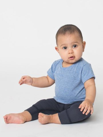 American Apparel TR005W Infant Triblend Short-Sleeve T-Shirt Athletic Blue