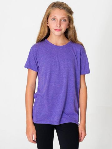 American Apparel TR201W Youth Triblend Short-Sleeve T-Shirt Tri Orchid