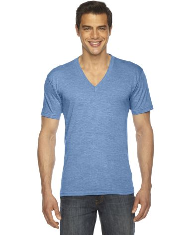 TR461W Unisex Triblend Short-Sleeve V-Neck Athletic Blue
