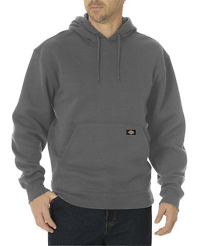 Dickies Workwear TW392T Unisex Tall Midweight Fleece Pullover Hoodie DARK HTHR GRAY