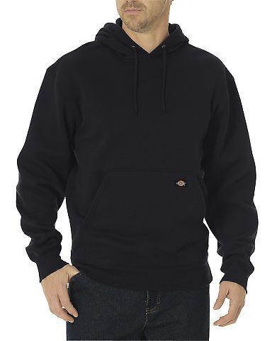 Dickies Workwear TW392T Unisex Tall Midweight Fleece Pullover Hoodie BLACK