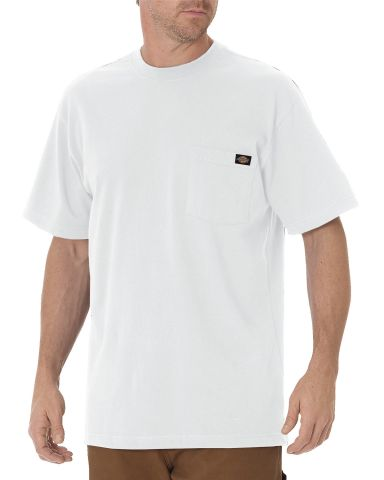 Dickies Workwear WS436T Men's Tall Short-Sleeve Pocket T-Shirt WHITE