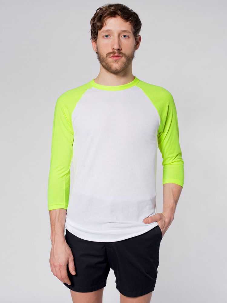 eca3e3cbbf1 BB453 American Apparel Unisex Poly Cotton 3 4 Sleeve Raglan