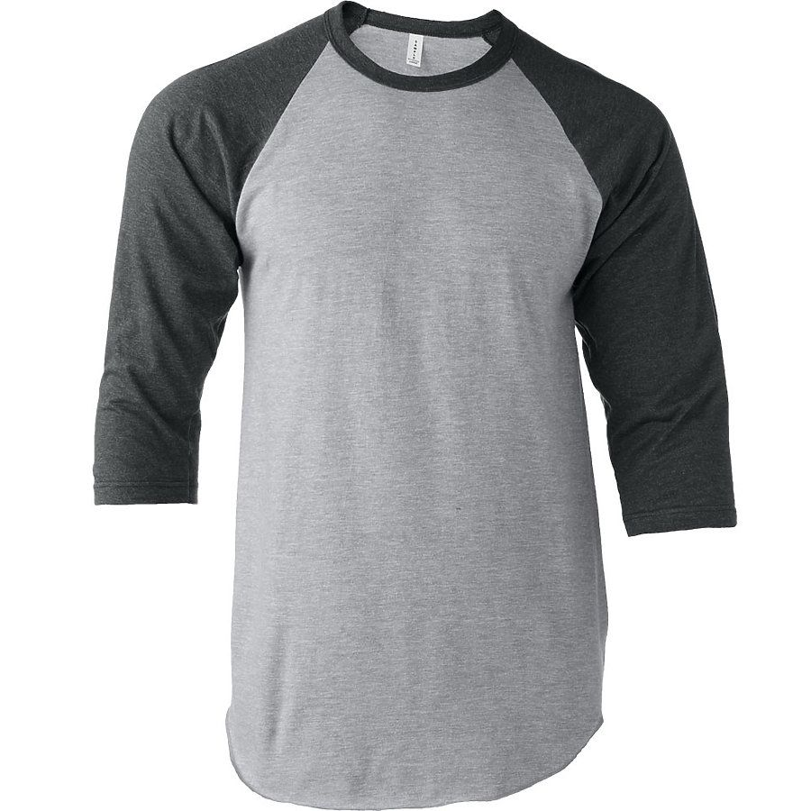 a8e1cea9e ... Tultex 0245TC Unisex Fine Jersey Raglan Tee Heather Grey Heather  Charcoal ...