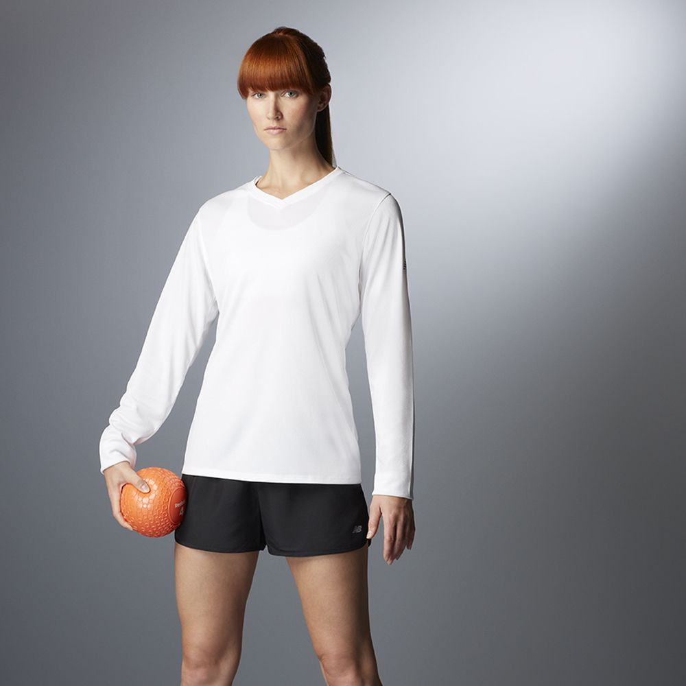 f4917edecdff8 New Balance N7119L Ladies' Ndurance® Athletic Long-Sleeve V-Neck T-Shirt