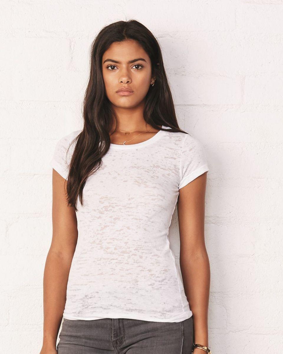 7e80ae8c7467 BELLA 8601 Womens Burnout T-shirt