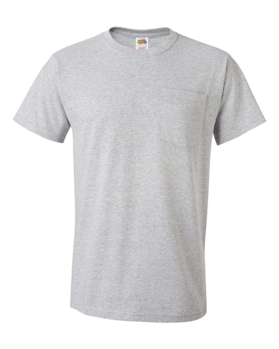 b9f33360 ... 3930P Fruit of the Loom Adult Heavy Cotton HDT-Shirt with Pocket  Athletic Heather ...