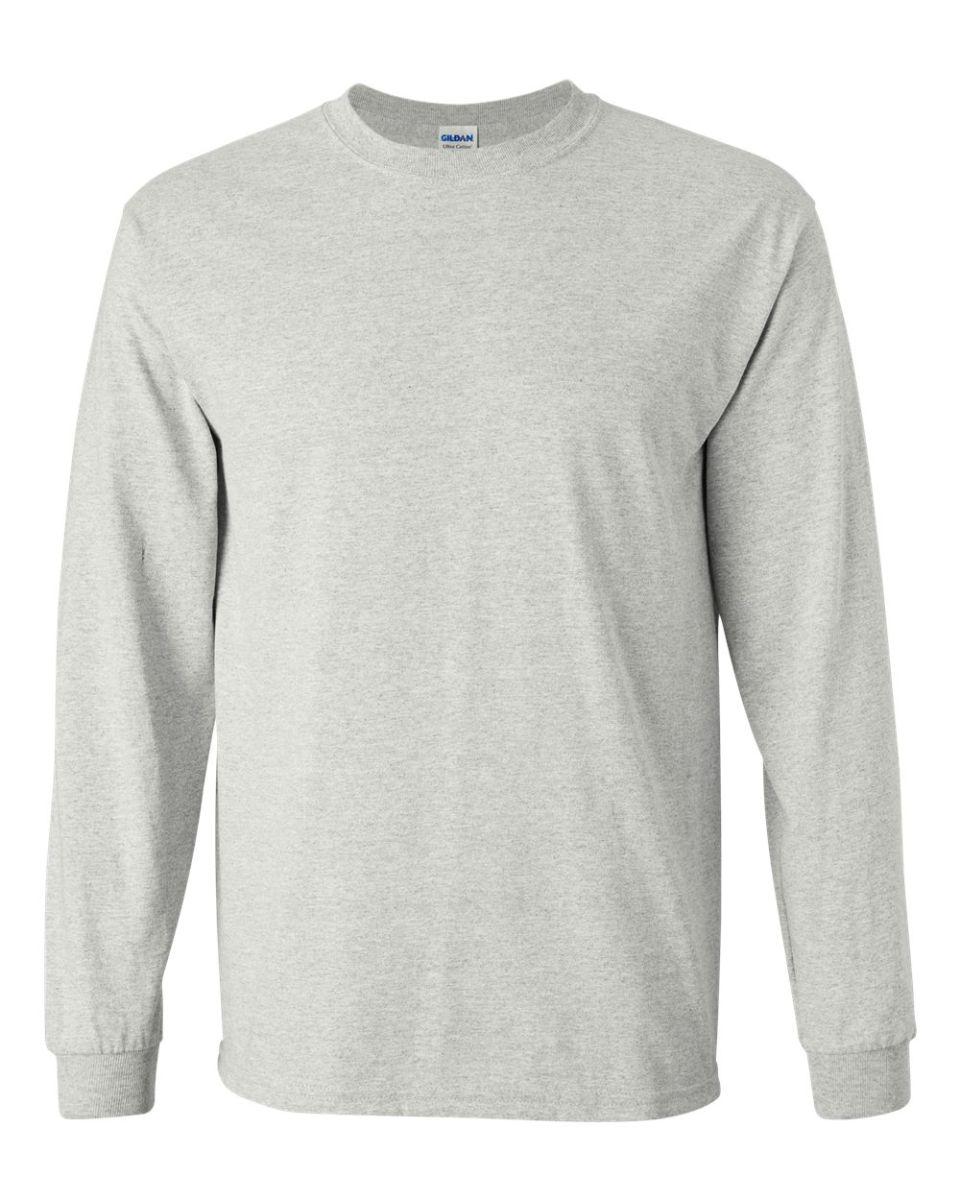 0c87252be ... 2400 Gildan Ultra Cotton Long Sleeve T Shirt ASH GREY ...