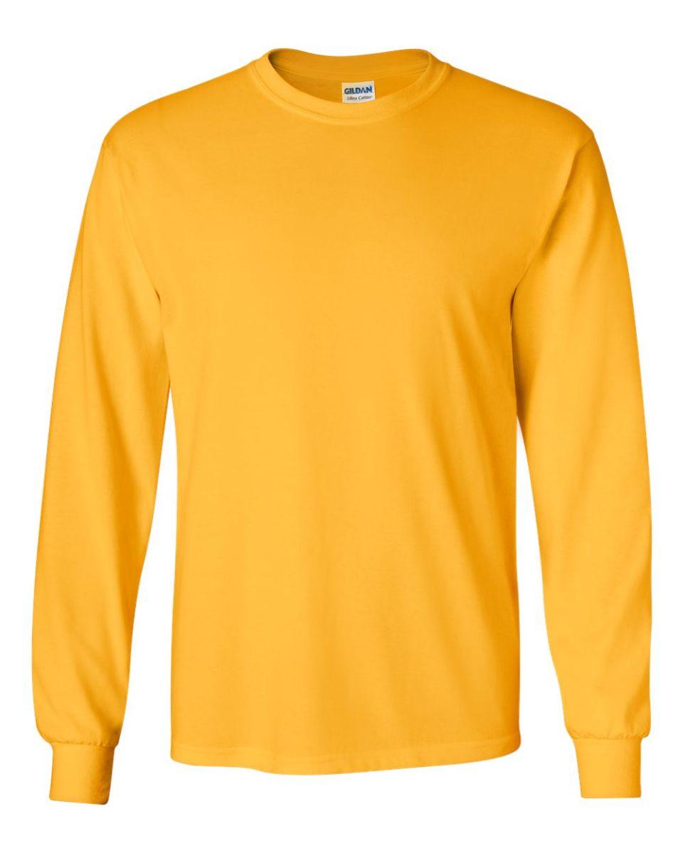 cdb00abd4204 ... 2400 Gildan Ultra Cotton Long Sleeve T Shirt GOLD ...