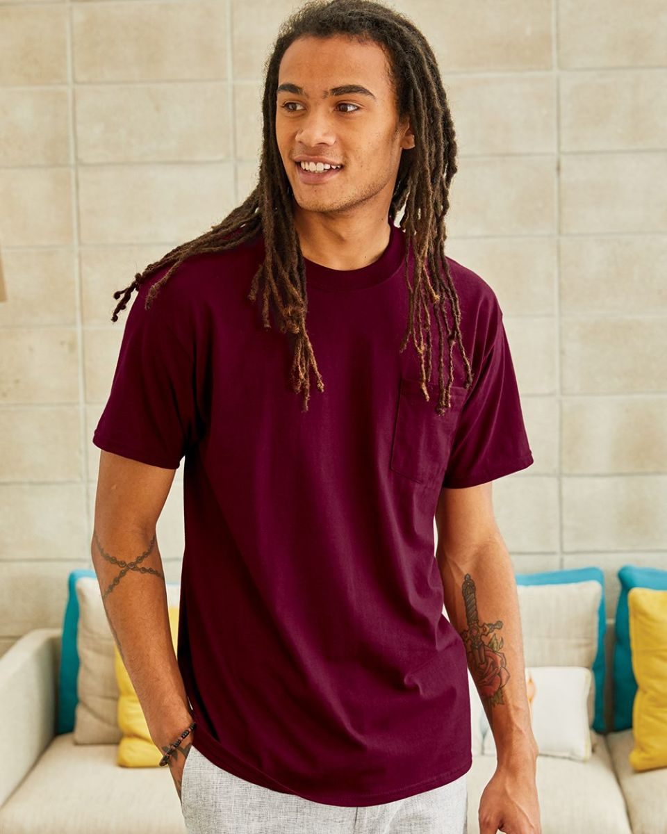 8c7732c8530d07 5190 Hanes® Beefy®-T with Pocket