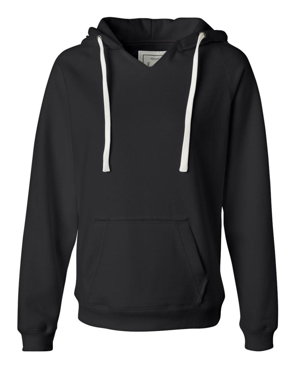 83220470d J America 8836 Women's Sueded V-Neck Hooded Sweatshirt