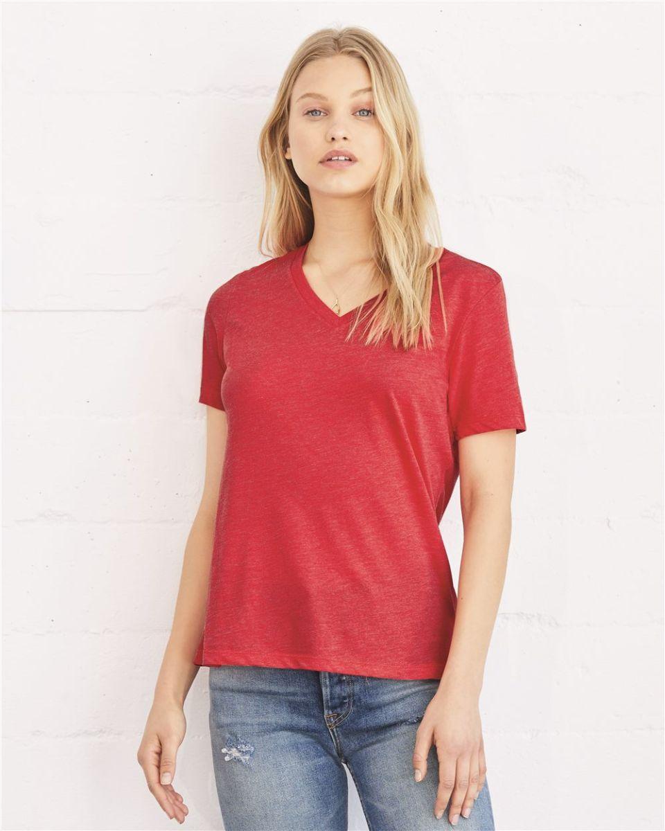 da2f1451 BELLA 6405 Ladies Relaxed V-Neck T-shirt
