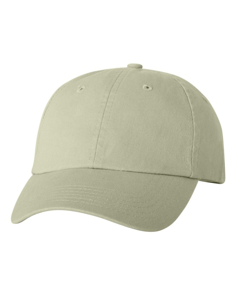 423dd39219d ... Valucap VC300 Adult Washed Dad Hat Stone ...