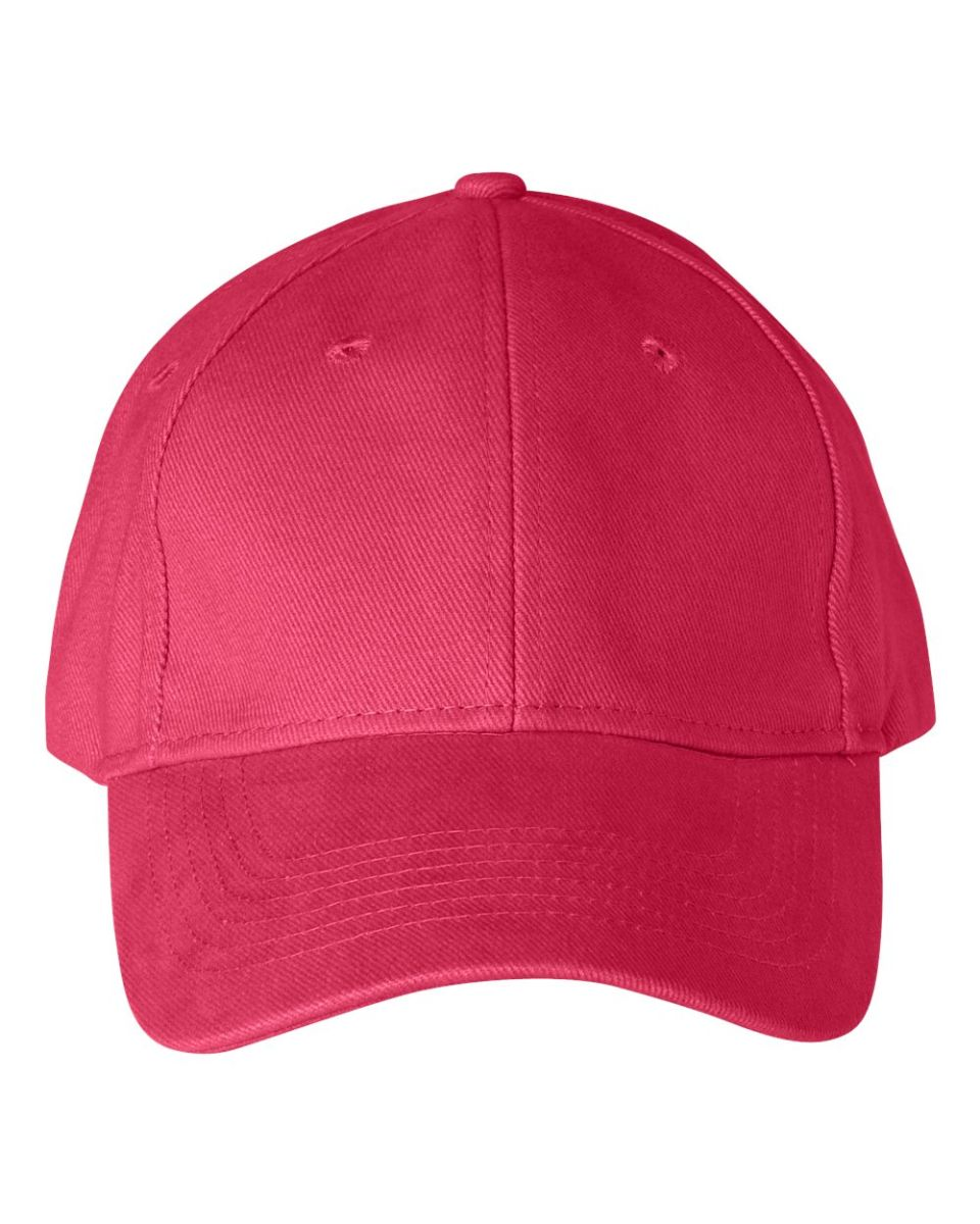 db4bbc87093 ... 136 Anvil Cotton Solid Six-Panel Brushed Twill Cap Red ...