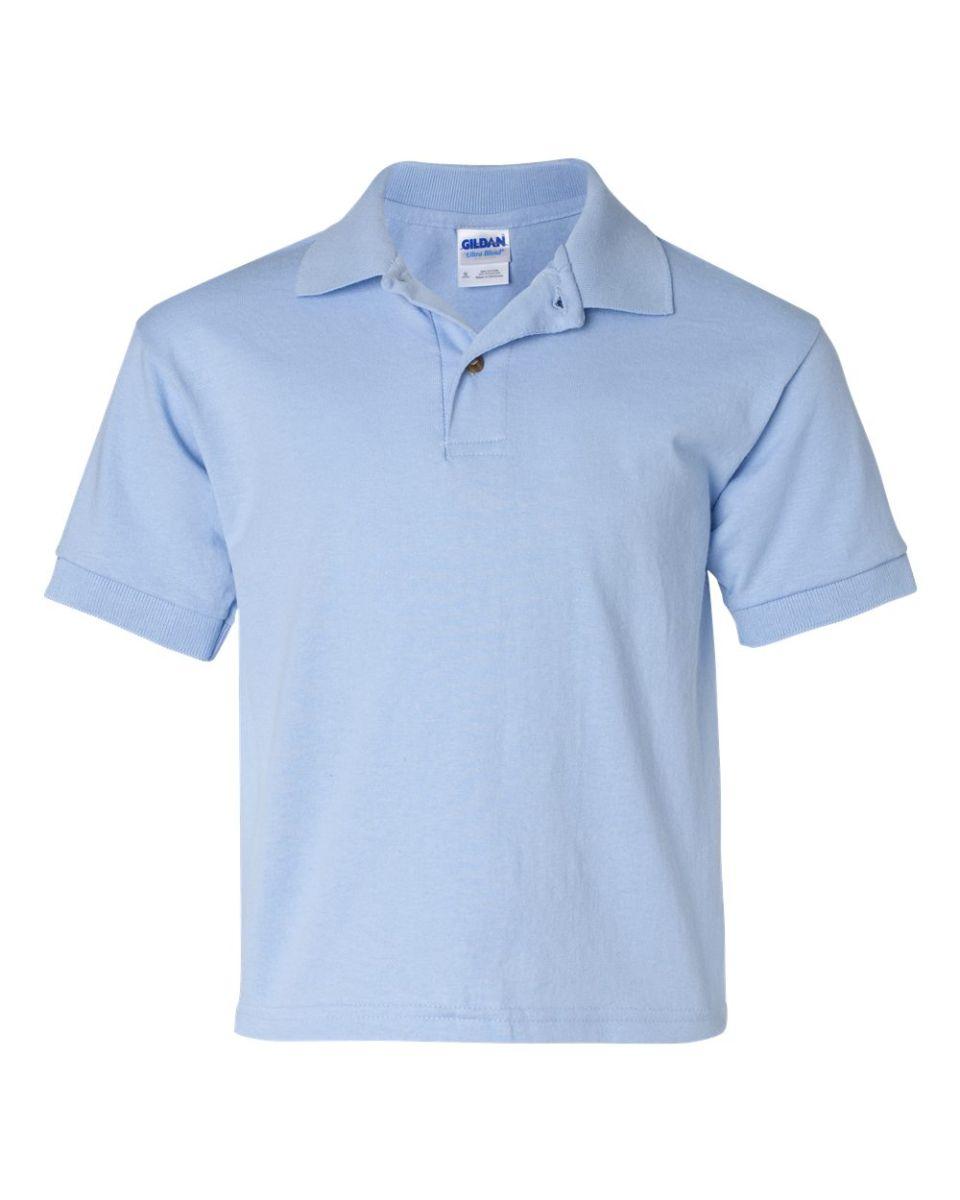 1d23d275a46 ... 8800B Gildan Youth 5.6 oz. Ultra Blend® 50/50 Jersey Polo LIGHT BLUE ...