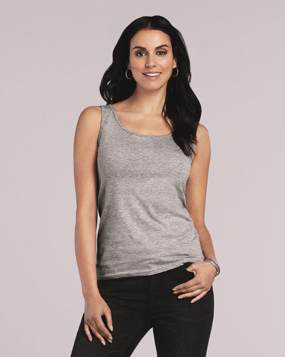 8c8520ae9ecf6 ... Women s Plus Size Clothing · 100% Cotton · 64200L Gildan Junior Fit  Softstyle Tank Top