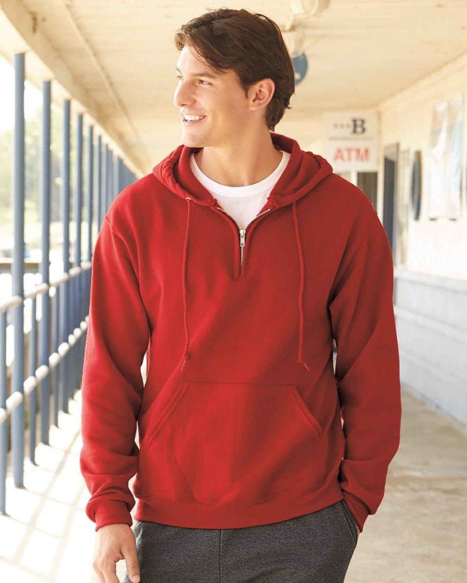 baa85af8288 Jerzees 994MR NuBlend Quarter-Zip Hooded Sweatshirt