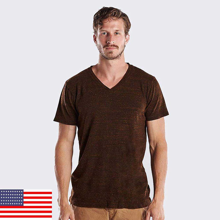 3df80be6c604 2228 US Blanks Unisex Triblend V-Neck T-Shirt