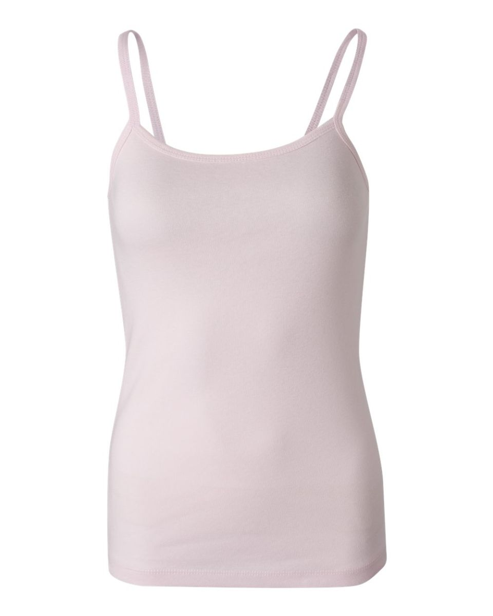 cac910b0f5928 ... BELLA 1011 Womens Ribbed Spaghetti Strap Tank Top Pink(Discontinued) ...
