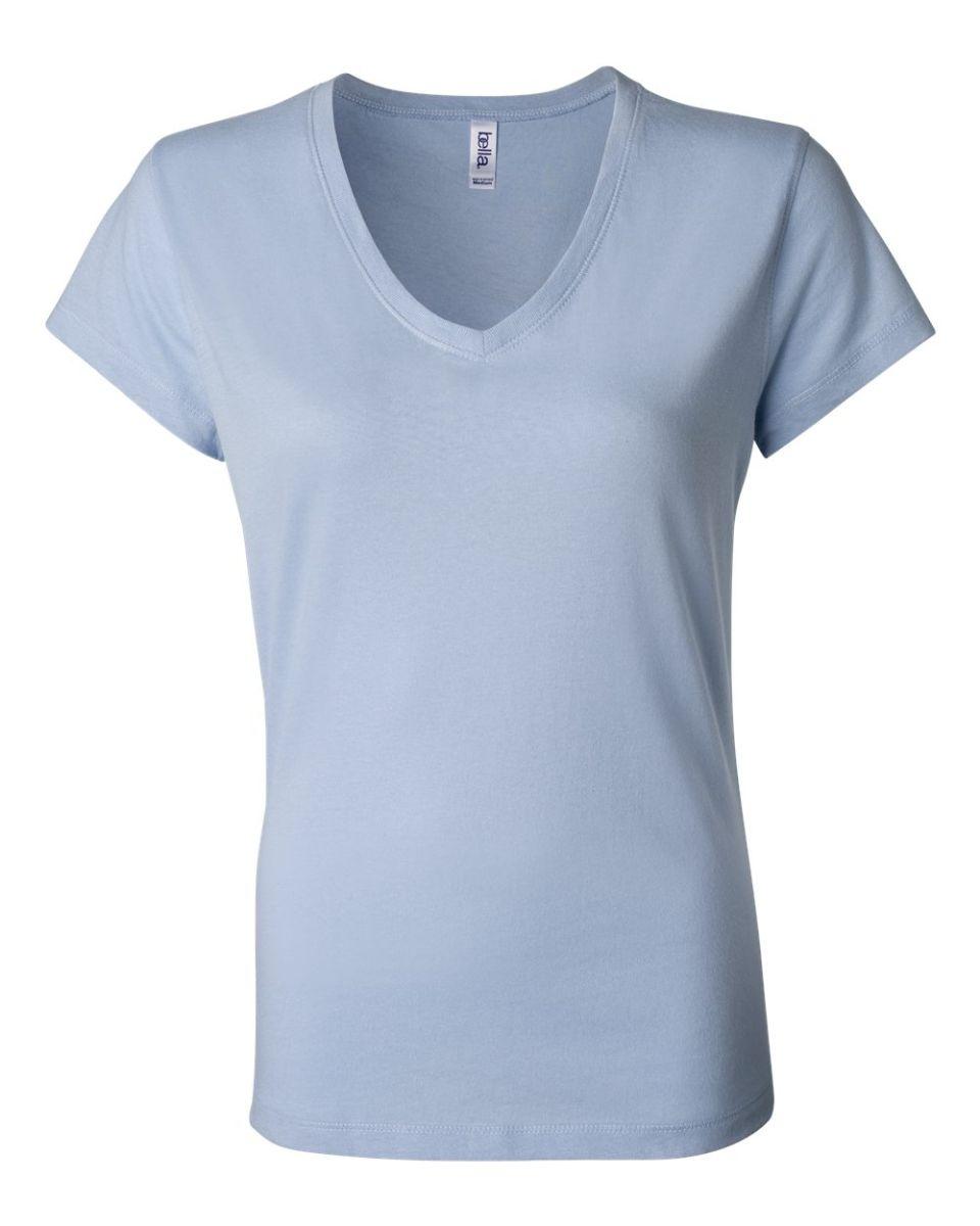 857402380b9402 BELLA 6005 Womens V-Neck T-shirt BABY BLUE ...