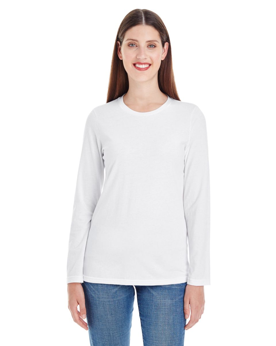 8c28a3d641 American Apparel 23337W Ladies  Fine Jersey Classic Long-Sleeve T-Shirt  White