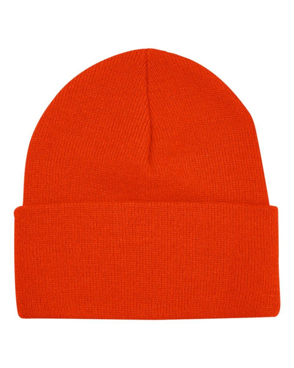 2178a793388 3825 Bayside Knit Cuff Beanie Black 3825 Bayside Knit Cuff Beanie Bright  Orange ...