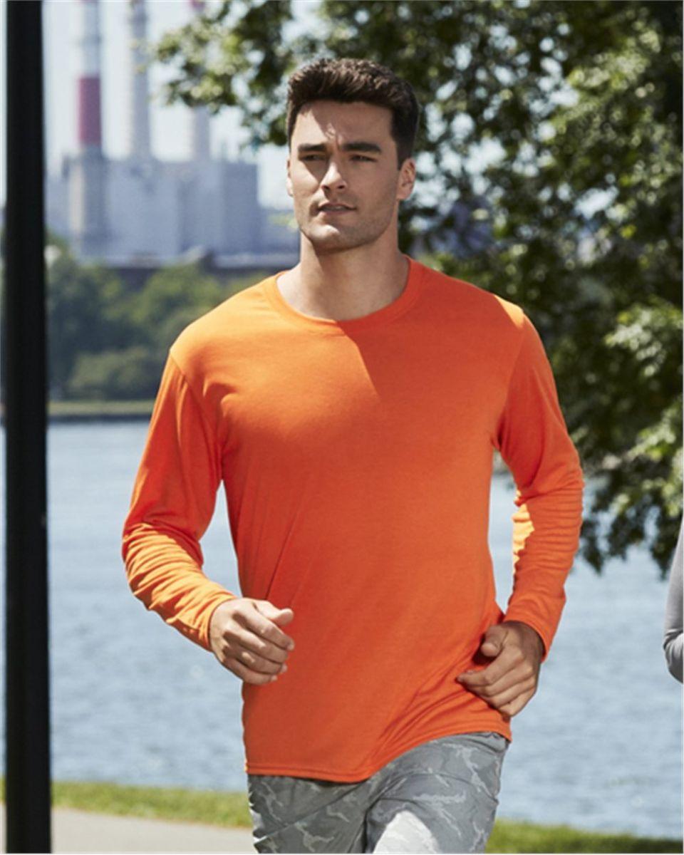 aabe49f8 42400 Gildan Adult Core Performance Long-Sleeve T-Shirt